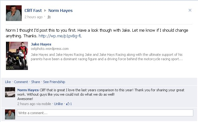 Norm Hayes Comment