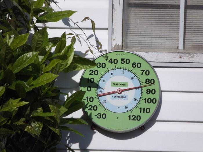 Again its warm...