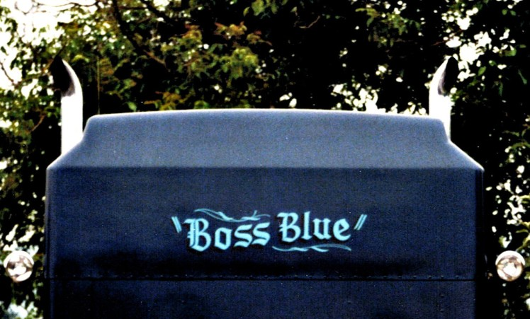 "The back of the sleeper, ""Boss Blue"""