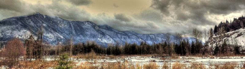 Panoramic view of the Chilliwack River Area.