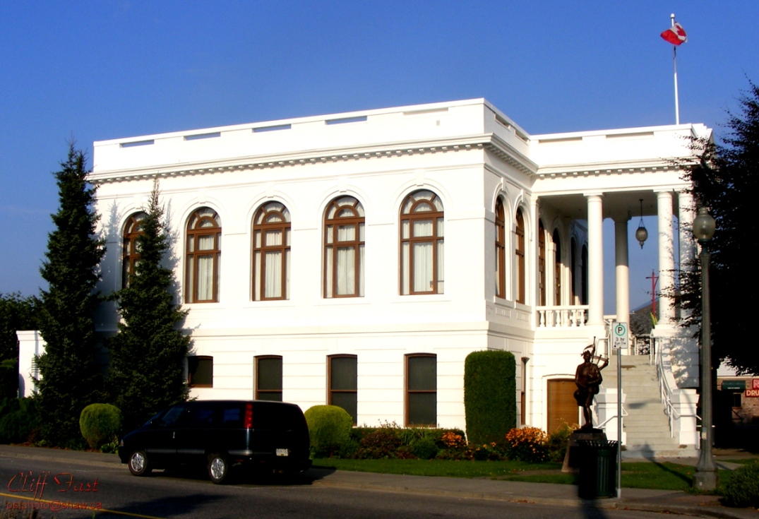 Side view of the old chilliwack city hall