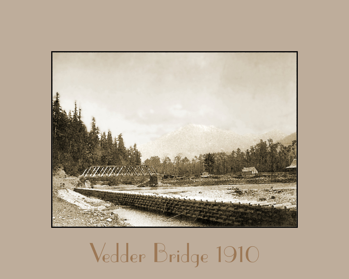 Wooden Vedder Bridge 1910