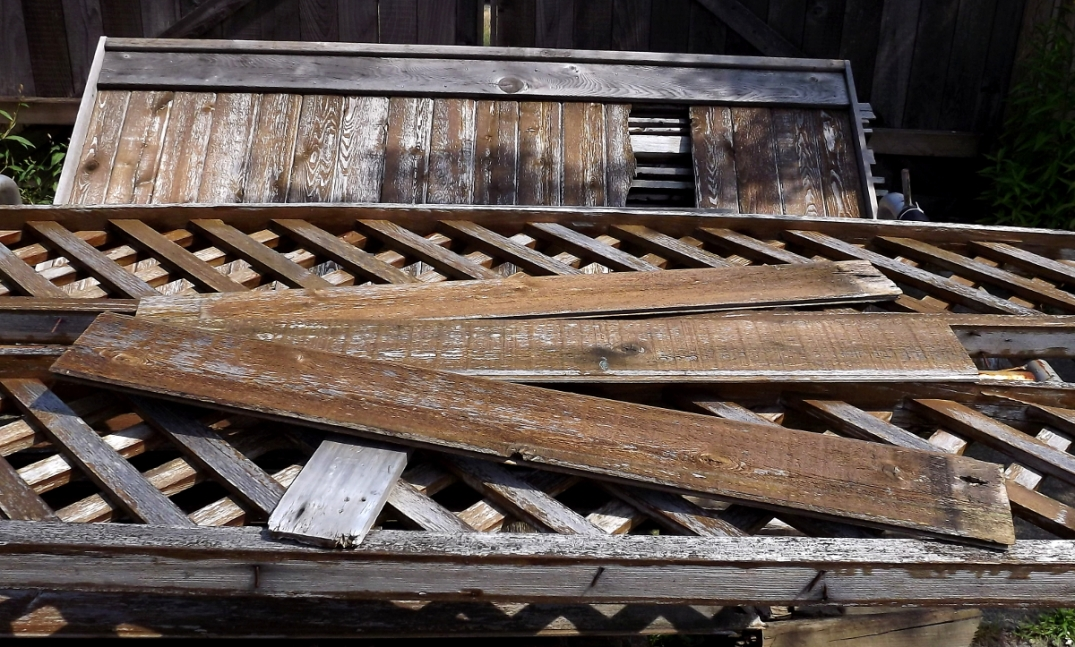 Ruff & weathered fence boards