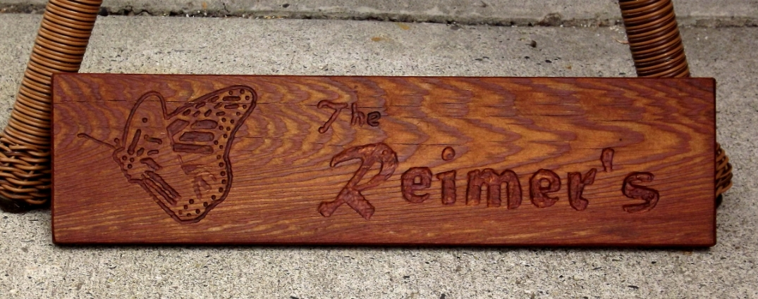 Another name plaque...