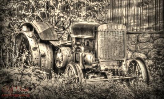 Steel wheeled John Deere tractor