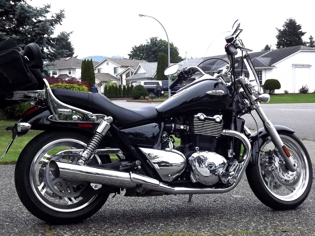 A full view of this Triumph.