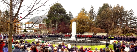 The cenotaph at CFB Chilliwack on 11/11/2013