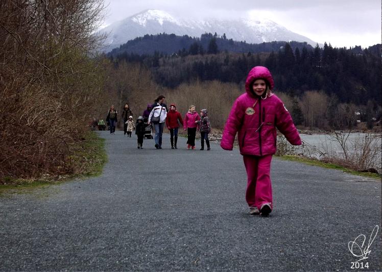 Children on our walk.